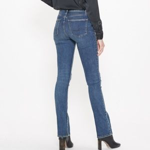 Silver Distressed Jeans Mid Rise Skinny Bootcut